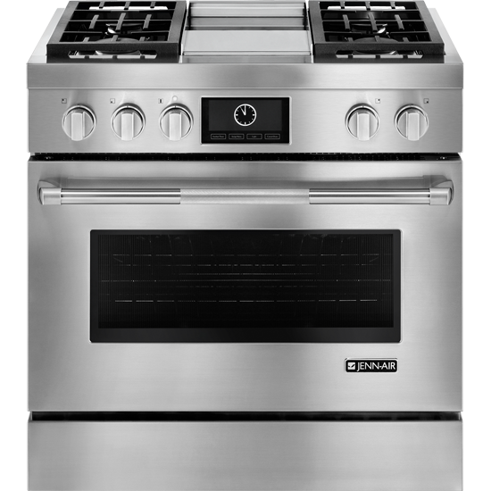 JENN-AIR Pro-Style® JDRP536WP Dual-Fuel Range with Griddle and MultiMode® Convection, 36""