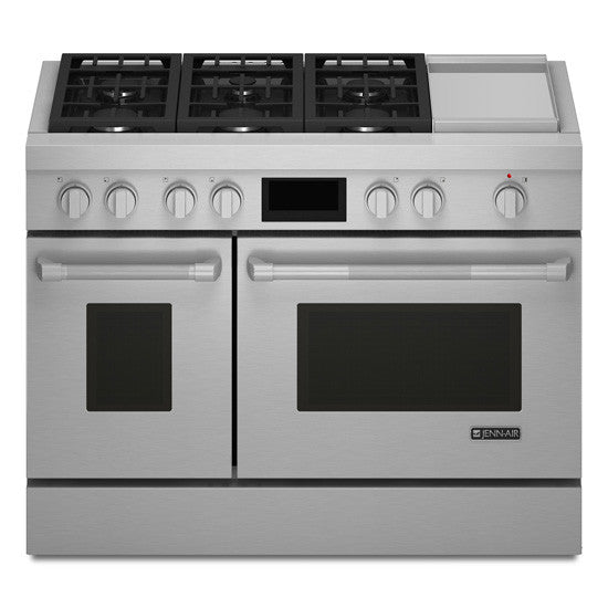 JENN-AIR JDRP548WP Pro-Style® Dual-Fuel Range with Griddle and MultiMode® Convection, 48""