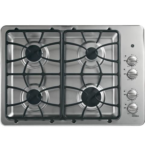 "GE JGP333SETSS 30"" Built-In Gas Cooktop"