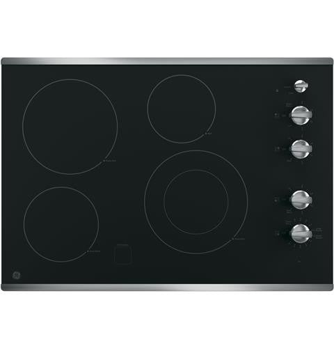 "GE JP3530SJSS 30"" Built-In Knob Control Electric Cooktop"