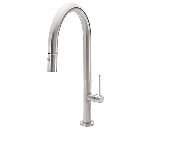 CALIFORNIA FAUCETS K50-100-XX Poetto Pull-Down Kitchen Faucet - High Spout