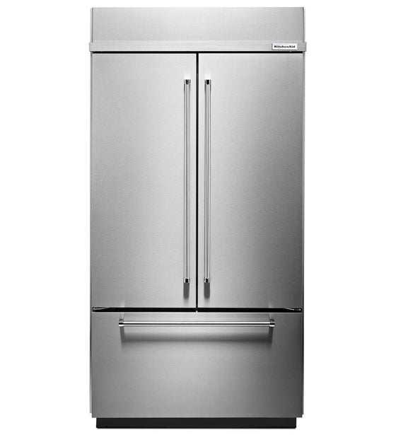 "KITCHEN-AID KBFN502ESS 24.2 Cu. Ft. 42"" Width Built-In Stainless French Door Refrigerator"