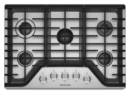 KITCHENAID KCGS350ESS 30'' 5-Burner Gas Cooktop