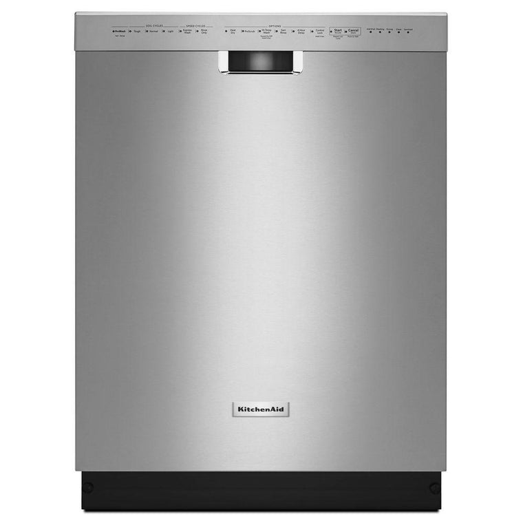 KitchenAid KDFE204ESS 24 in. Front Control Dishwasher in Stainless Steel with Stainless Steel Tub