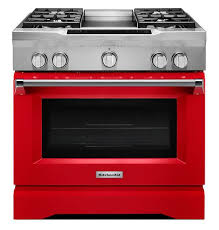 Kitchenaid KDRS463VSD 5.1 cu. ft. 36'' 4-Burner Dual-Fuel Commercial-Style Freestanding Range