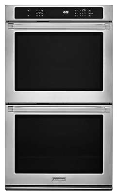 KitchenAid KEBS209BSP 30-Inch Convection Double Wall Oven, Pro Line® Series
