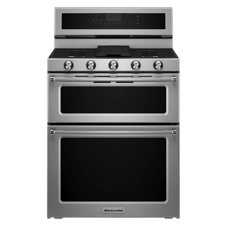 KitchenAid 30 in. 6.7 cu. ft. Double Oven Dual Fuel Range KFDD500ESS