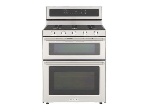 KITCHENAID KFGD500ESS 30-Inch 5 Burner Gas Double Oven Convection Range
