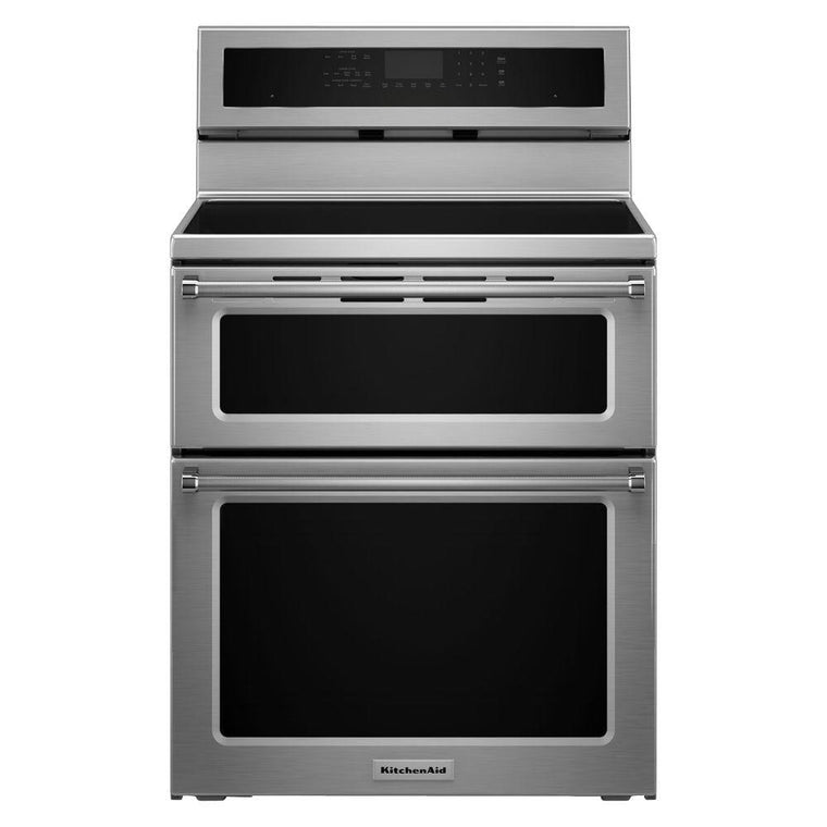 KitchenAid KFID500ESS 30 in. 6.7 cu. ft. Double Oven Electric Induction Range