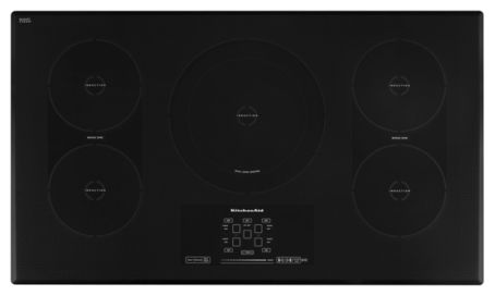 KitchenAid KICU569XBL 36-Inch 5-Element Induction Cooktop, Architect® Series II