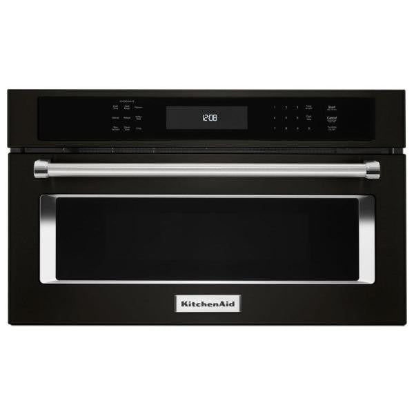 "KITCHENAID KMBP100EBS 30"" Built In Microwave Oven with Convection Cooking"