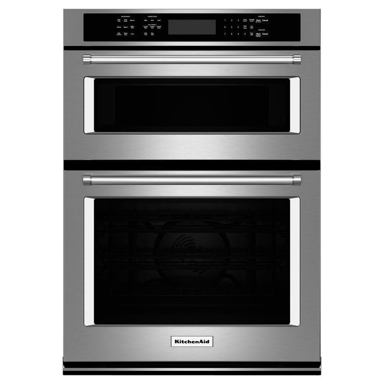 KitchenAid KOCE500ESS 30 in. Electric Even-Heat True Convection Wall Oven with Built-In Microwave