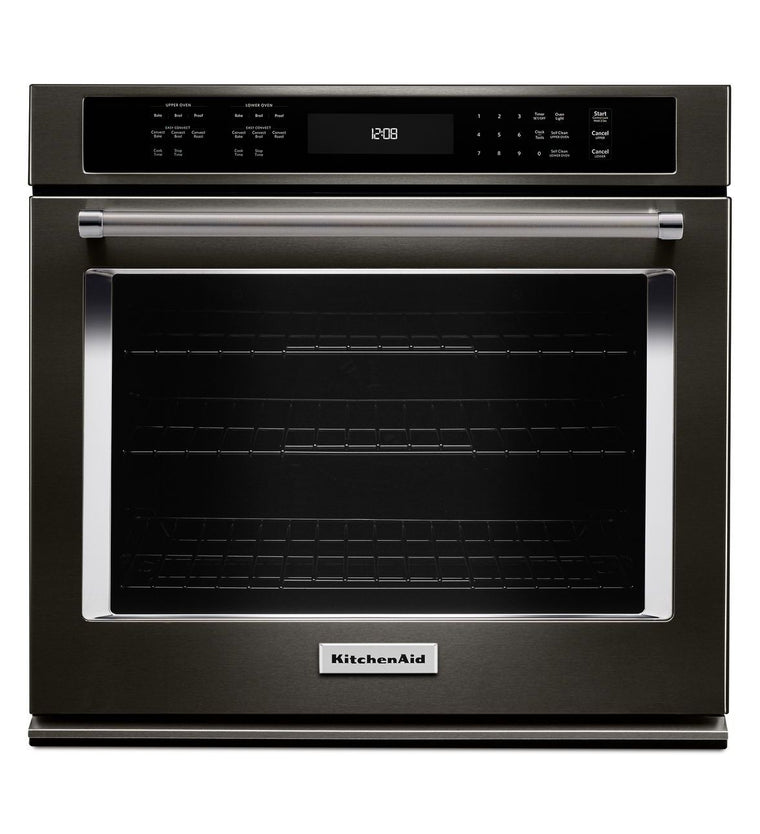 "KITCHENAID KOSE500EBS 30"" Single Wall Oven with Even-Heat™ True Convection"