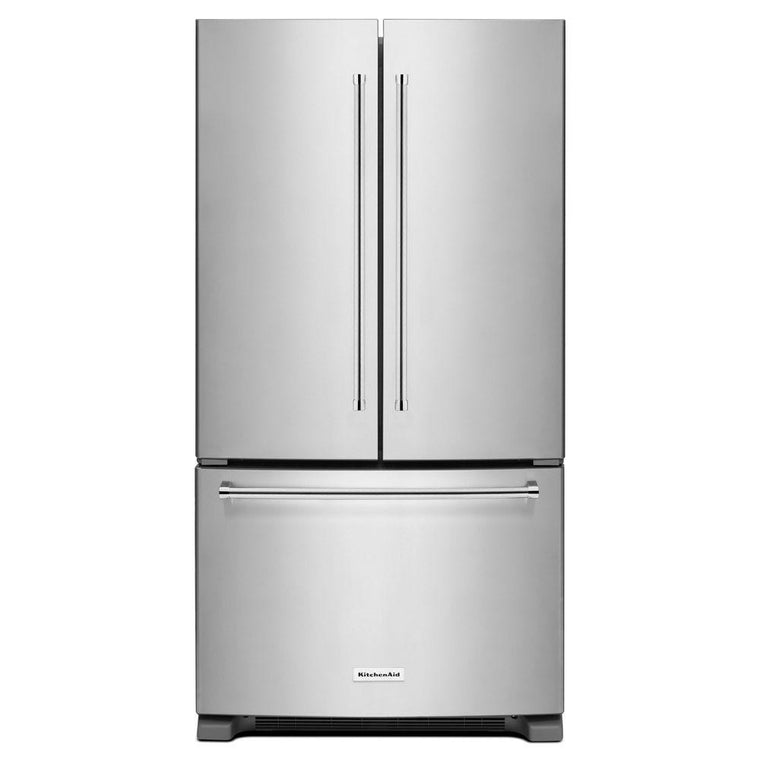 KITCHENAID KRFC300ESS 20 cu. ft. 36-Inch Width Counter-Depth French Door Refrigerator with Interior Dispense