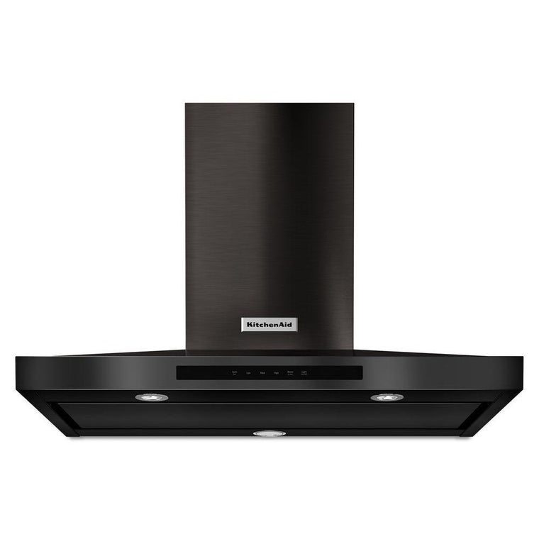 KitchenAid 36 in. Wall Mount Canopy Range Hood in Black Stainless KVWB606DBS