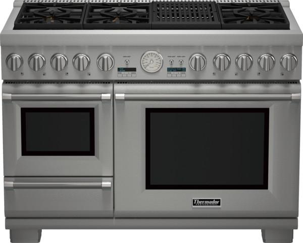 "Thermador PRD48NLSGU 48"" Pro Series Dual Fuel Steam Range RANGE THERMADOR"