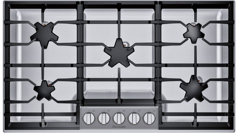 THERMADOR SGSXP365TS 36-Inch Masterpiece® Pedestal Star® Burner Gas Cooktop, ExtraLow® Select