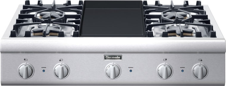Thermador Professional Series PCG364GD 36 Inch Pro-Style Gas Rangetop