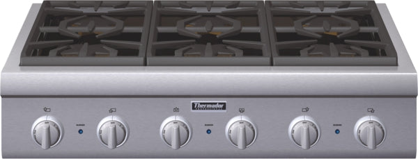 Thermador Professional Series PCG366G 36 Inch Pro-Style Gas Rangetop