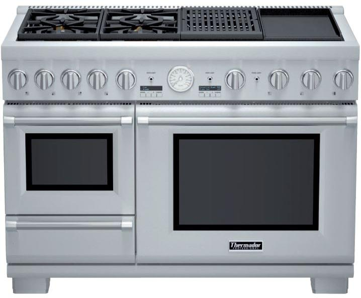 Thermador Pro Grand Steam Professional Series PRD48NCSGU 48 Inch Pro-Style Dual Fuel Range
