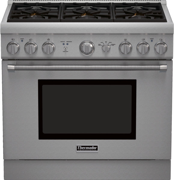 THERMADOR PRG366GH 36 inch Professional Series Pro Harmony Standard Depth All Gas Range