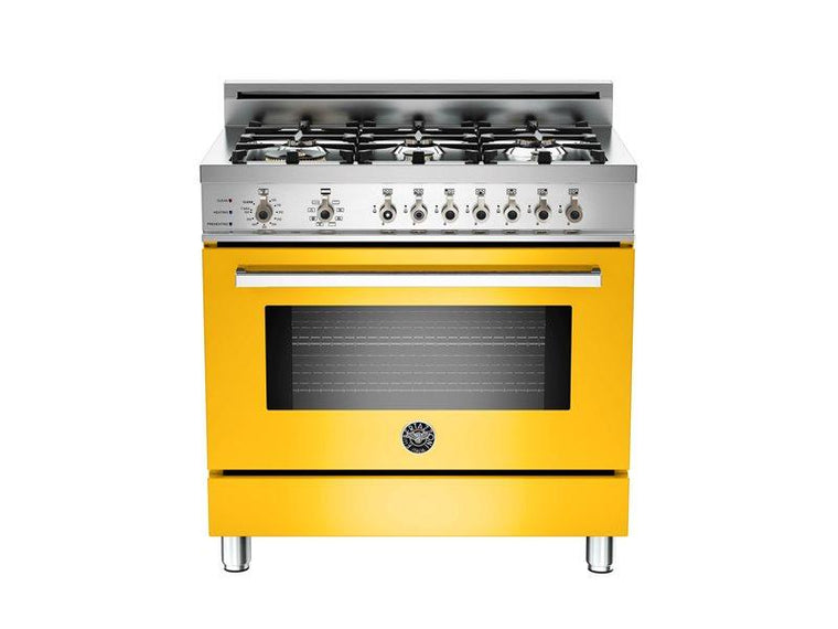 "Bertazzoni PRO366DFSGI 36"" Pro 6-Burner Range with Electric Oven"