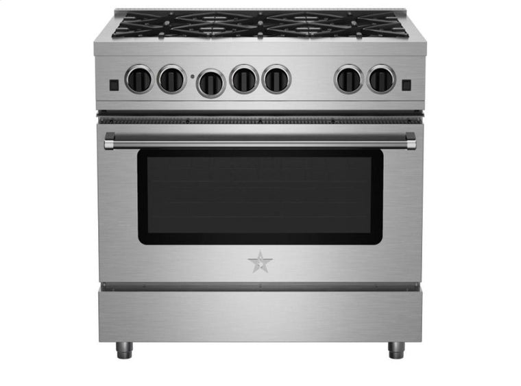 "BlueStar 36"" Stainless Steel Freestanding Gas Range - RCS366BV2"