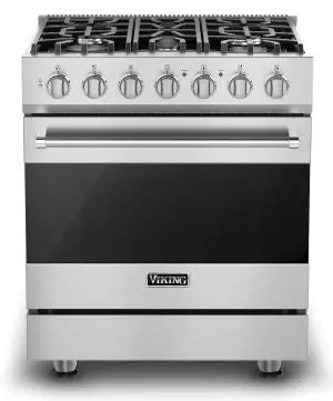Viking 3 Series RVGR33025BSS 30 Inch Freestanding Gas Range