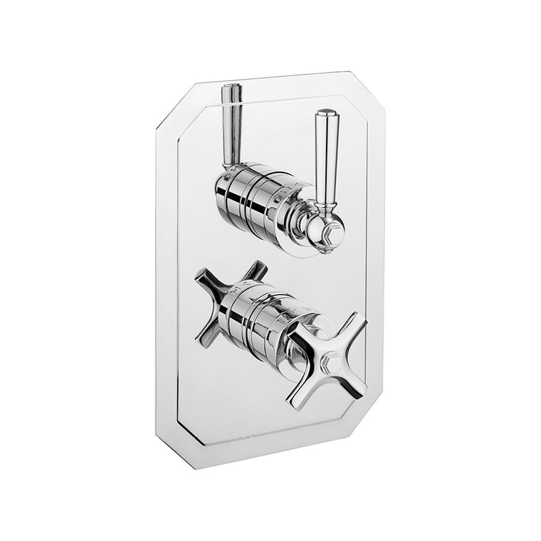 Waldorf Metal Lever 1000 Thermostatic Trim with Single Integrated Volume Control
