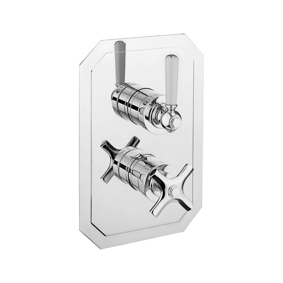 Waldorf White Lever 1000 Thermostatic Trim with Single Integrated Volume Control
