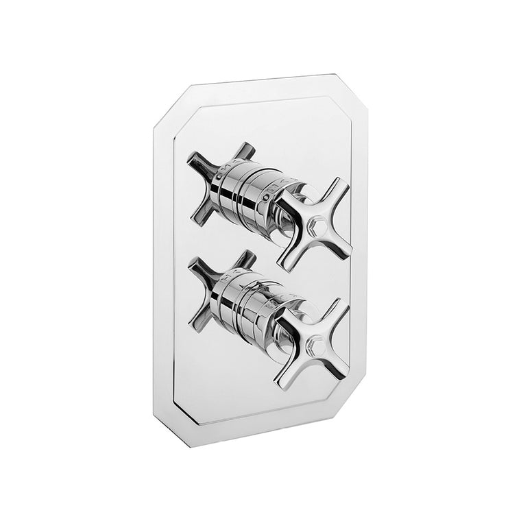Waldorf Crosshead 1500 Thermostatic Trim with Integrated Volume Control/Diverter for Independent 2 Outlet Use