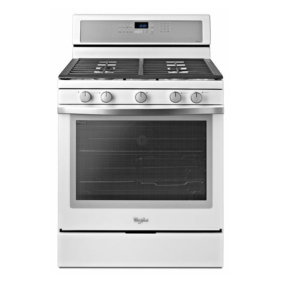 Whirlpool Gold White Ice WFG710H0AH 30 Inch Freestanding Gas Range
