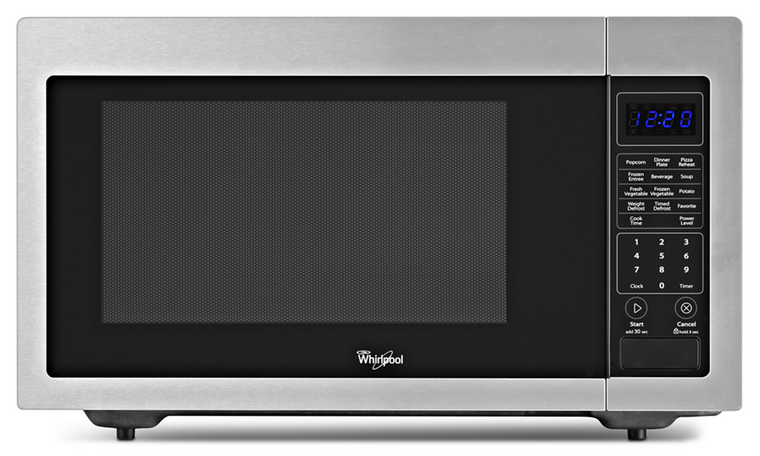 WHIRLPOOL WMC30516AS 1.6 cu. ft. Countertop Microwave with 1,200 Watts Cooking Power