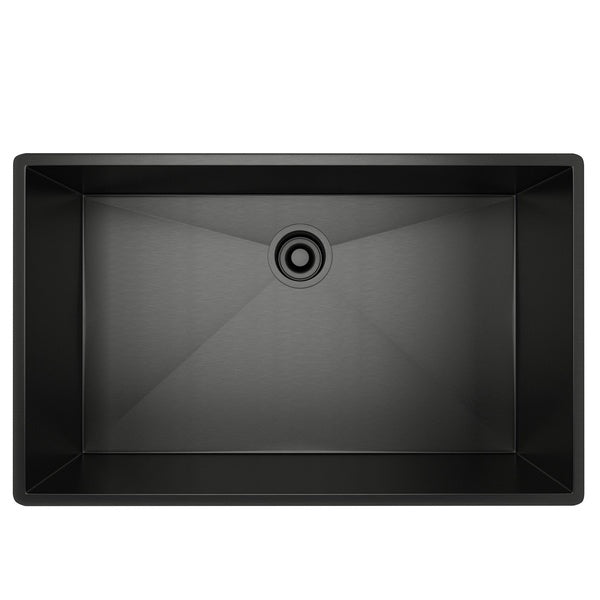 ROHL Single Bowl Stainless Steel Kitchen Sink | Black Stainless