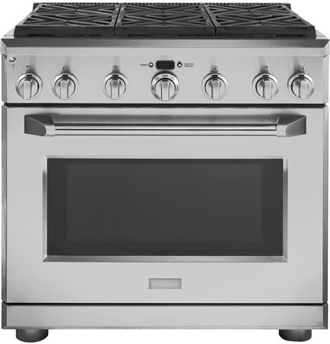 "Monogram ZDP366NPSS 36"" Dual-Fuel Professional Range with 6 Burners (Natural Gas)"