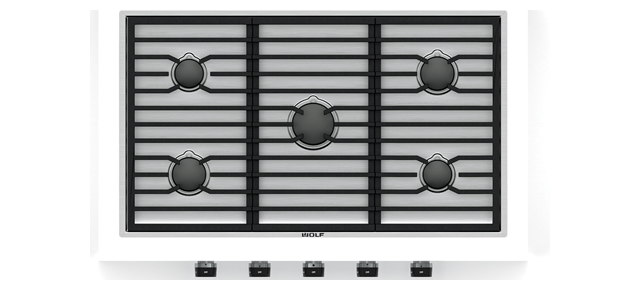 "Wolf CG365C/S 36"" Contemporary Gas Cooktop - 5 Burners"