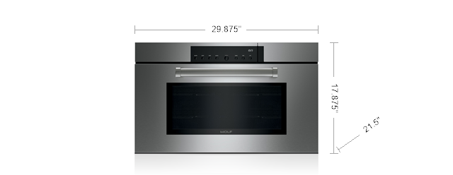 "WOLF CSO30PM/S/PH 30"" M SERIES PROFESSIONAL CONVECTION STEAM OVEN"