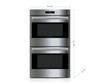 "Wolf DO30PE/S/PH 30"" E Series Professional Built-In Double Oven"