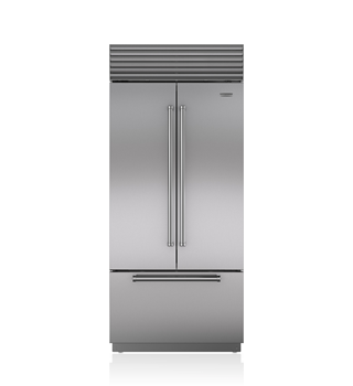"Sub-Zero BI-36UFDID/S 36"" Classic French Door Refrigerator/Freezer with Internal Dispenser"
