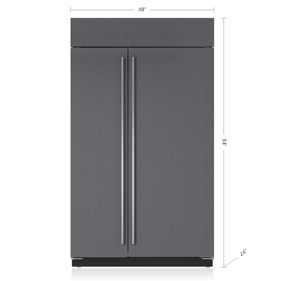 "SUB-ZERO BI-48SID/O 48"" BUILT-IN REFRIGERATOR/FREEZER W/ INTERNAL DISPENSER - PANEL READ"