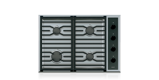 "Wolf CG304T/S 30"" Transitional Gas Cooktop - 4 Burners"