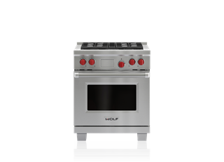 "Wolf DF304 30"" Dual Fuel Range - 4 Burners"