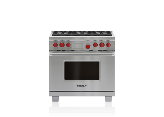 "Wolf DF366 36"" Dual Fuel Range - 6 Burners"