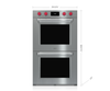 "Wolf DO30PM/S/PH 30"" M Series Professional Built-In Double Oven"