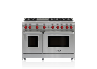 "Wolf GR486G 48"" Gas Range - 6 Burners and Infrared Griddle"