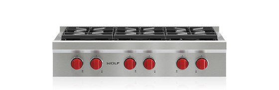 "WOLF SRT366 36"" Sealed Burner Rangetop - 6 Burners"