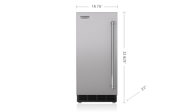 "Sub-Zero UC-15I 15"" Ice Maker Panel Ready"