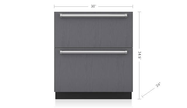 "SUB-ZERO 30"" REFRIGERATOR AND FREEZER DRAWERS - PANEL READY ID-30CI"