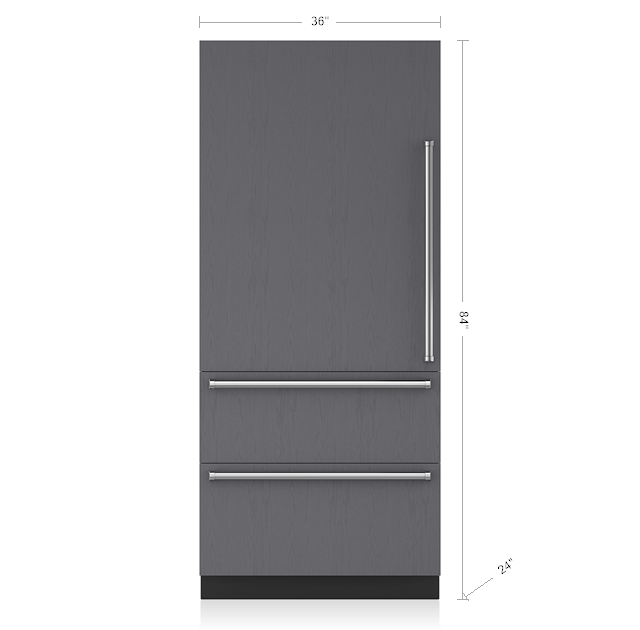 "SUB-ZERO 36"" INTEGRATED OVER-AND-UNDER REFRIGERATOR/FREEZER - PANEL READY IT-36CIID"