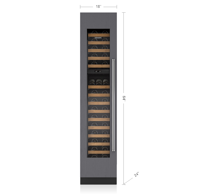 "SUB-ZERO IW-18/LH 18"" INTEGRATED WINE STORAGE - PANEL READY"
